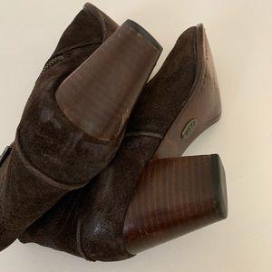 Frye Shoes - Frye Brown Suede Booties Side ZIP 6.5M